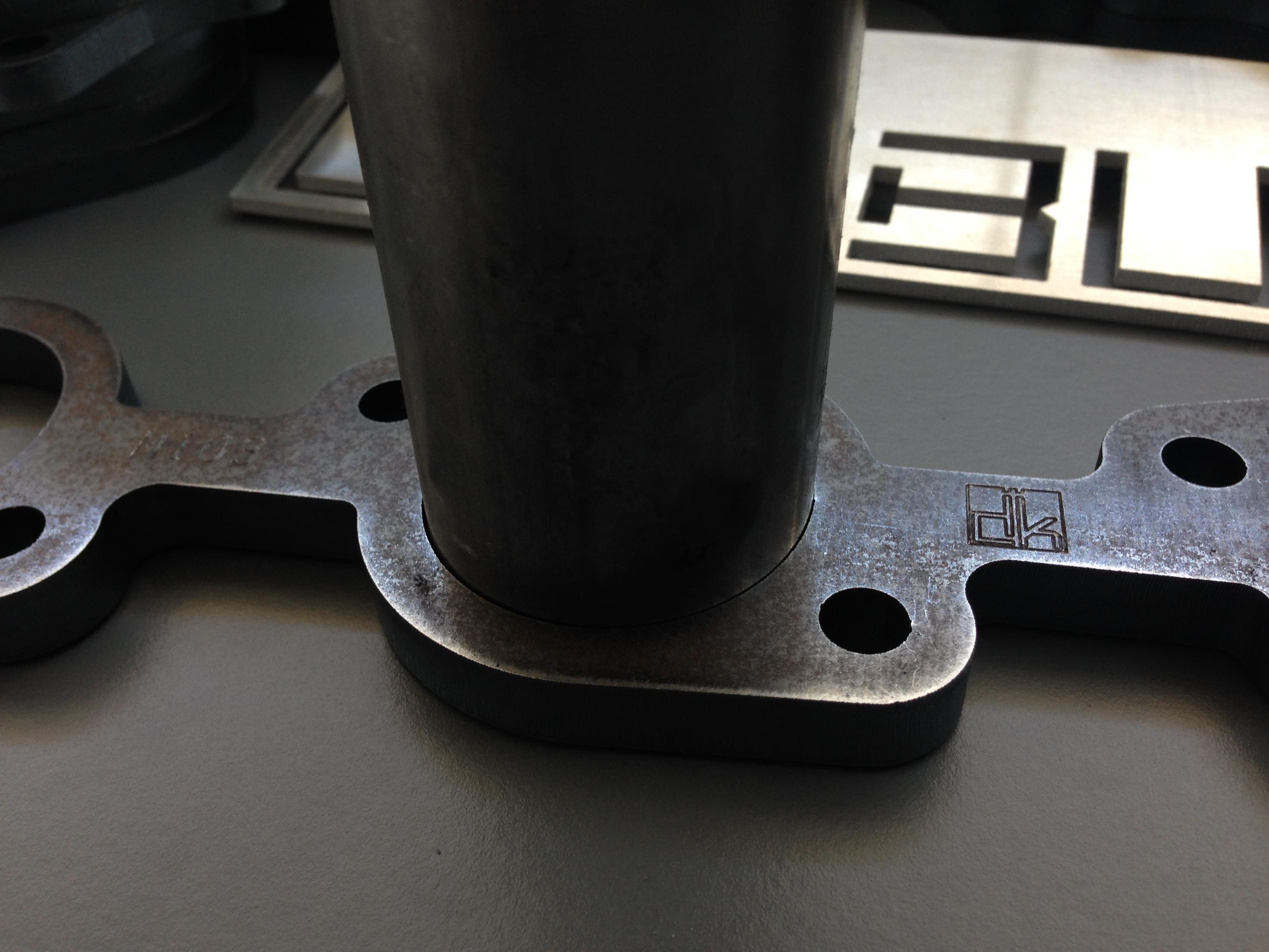 45mm slip fit tube header plates